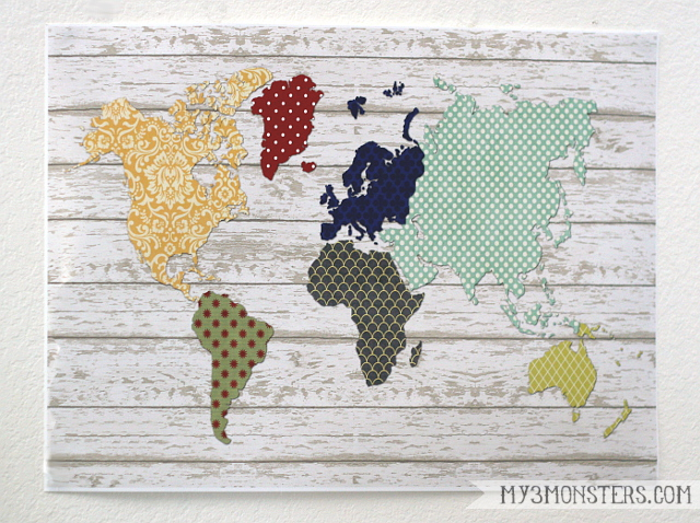 Faux Pallet Art World Map Printable at my3monsters.com
