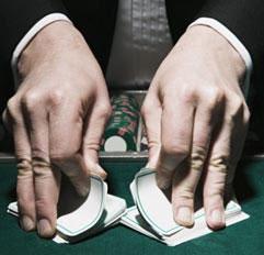 blackjack card mucking