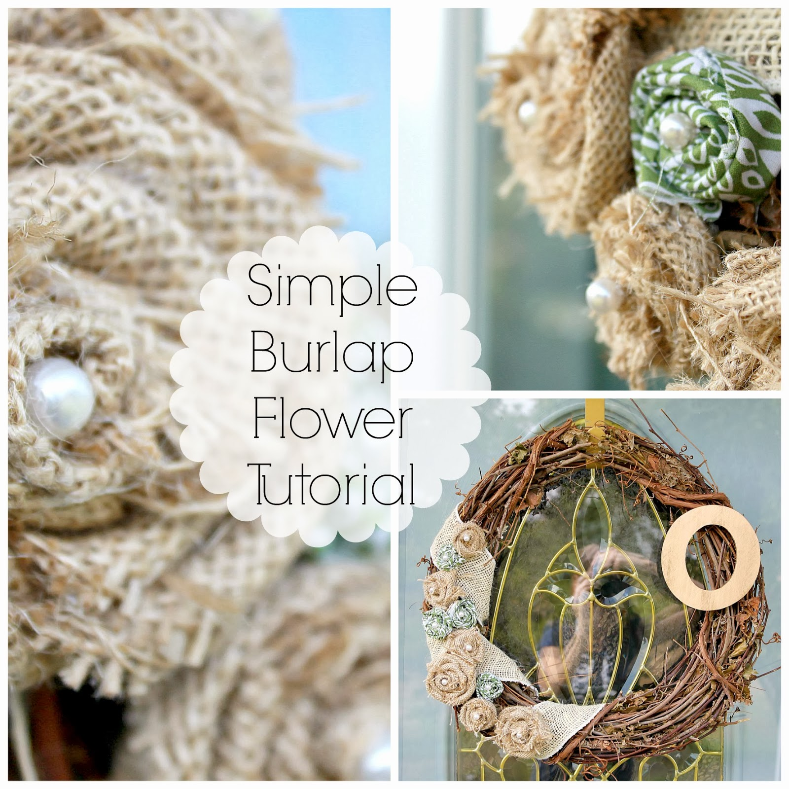 Grace Lee Cottage A simple burlap flower tutorial