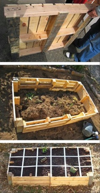 Build a raised bed garden using pallets 101 gardening for How to make a pallet garden bed
