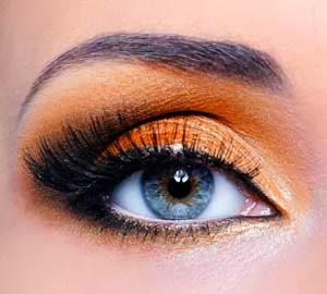 sombras naranjas para ojos azules