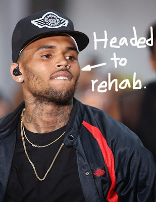 chris brown in rehab