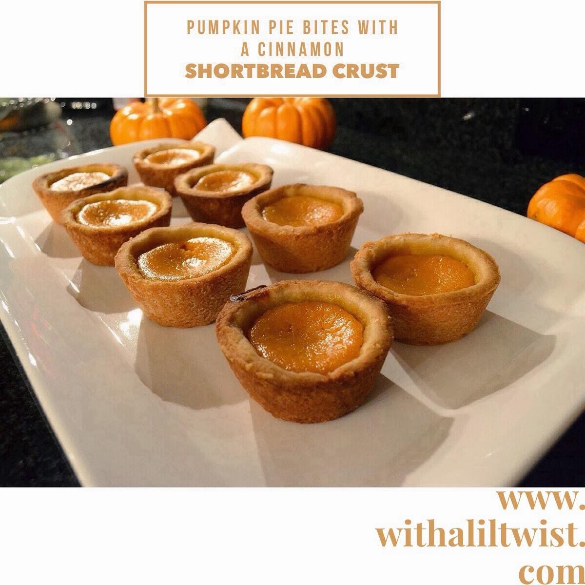 With a lil 39 twist mini pumpkin pies with a cinnamon for Pumpkin pie with a twist