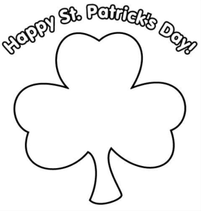 Tactueux image pertaining to st patrick's day clover printable