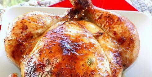 Receta : Pollo al horno con salsa de soja y mostaza