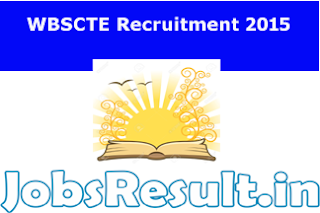 WBSCTE Recruitment 2015