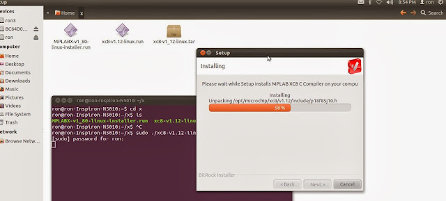 Mplab X IDE and XC8 C compiler on Linux Operating system