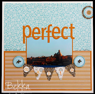 Perfect Malta Spiced Paisley Scrapbook Page