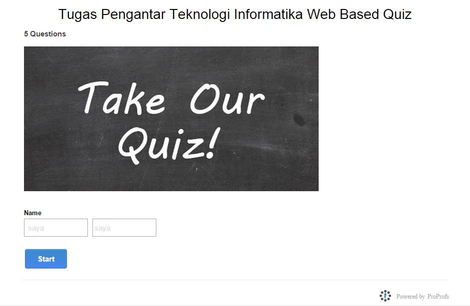 Tutorial Membuat Quiz Online Menggunakan Proprofs Ulya N