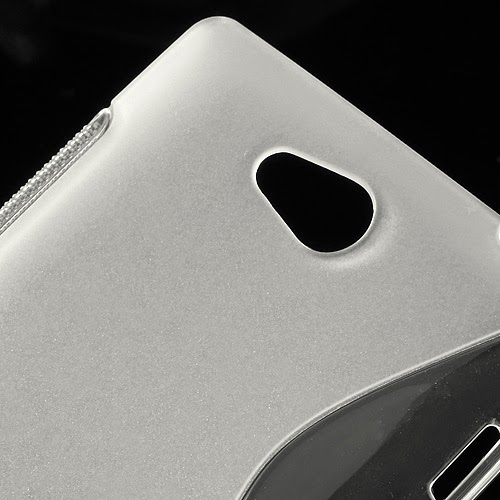 S-Curve Soft TPU Jelly Case for Sony Xperia C C2305 S39h - Transparant