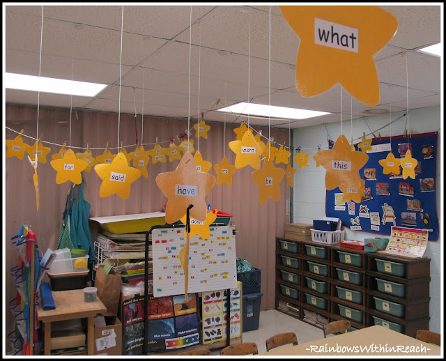 photo of: Sight Words in Kindergarten (from Organizational RoundUP via RainbowsWIthinReach)
