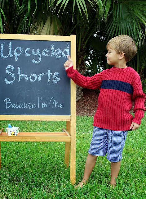 Because I'm Me Free Upcycled Shorts Tutorial