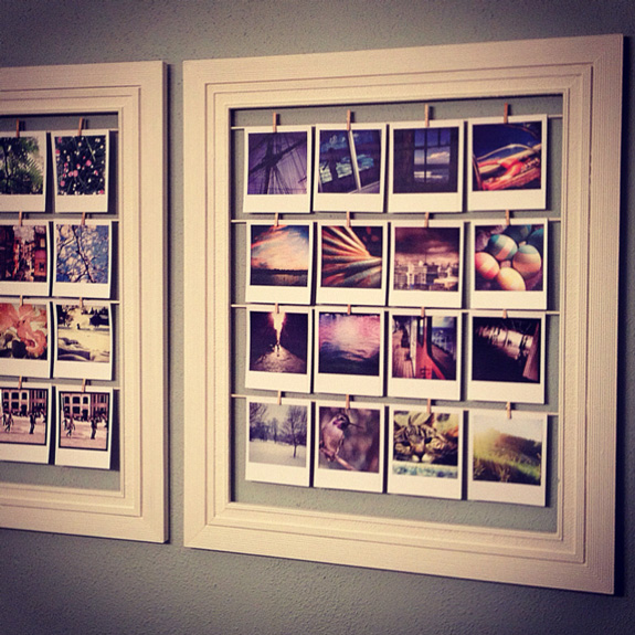 Belle maison creative ways to display instagram snapshots - Home decorating blogspot gallery ...