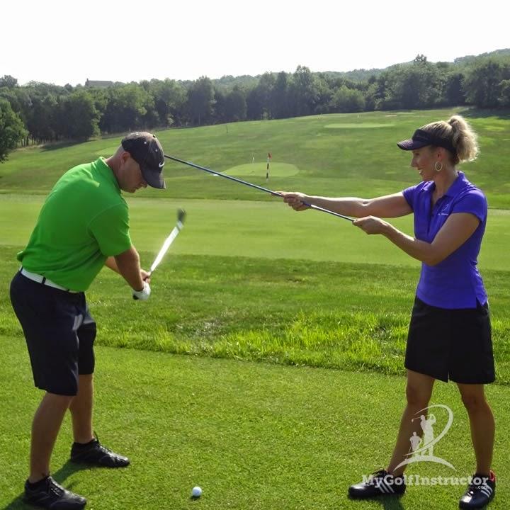 Teaching Chris golf