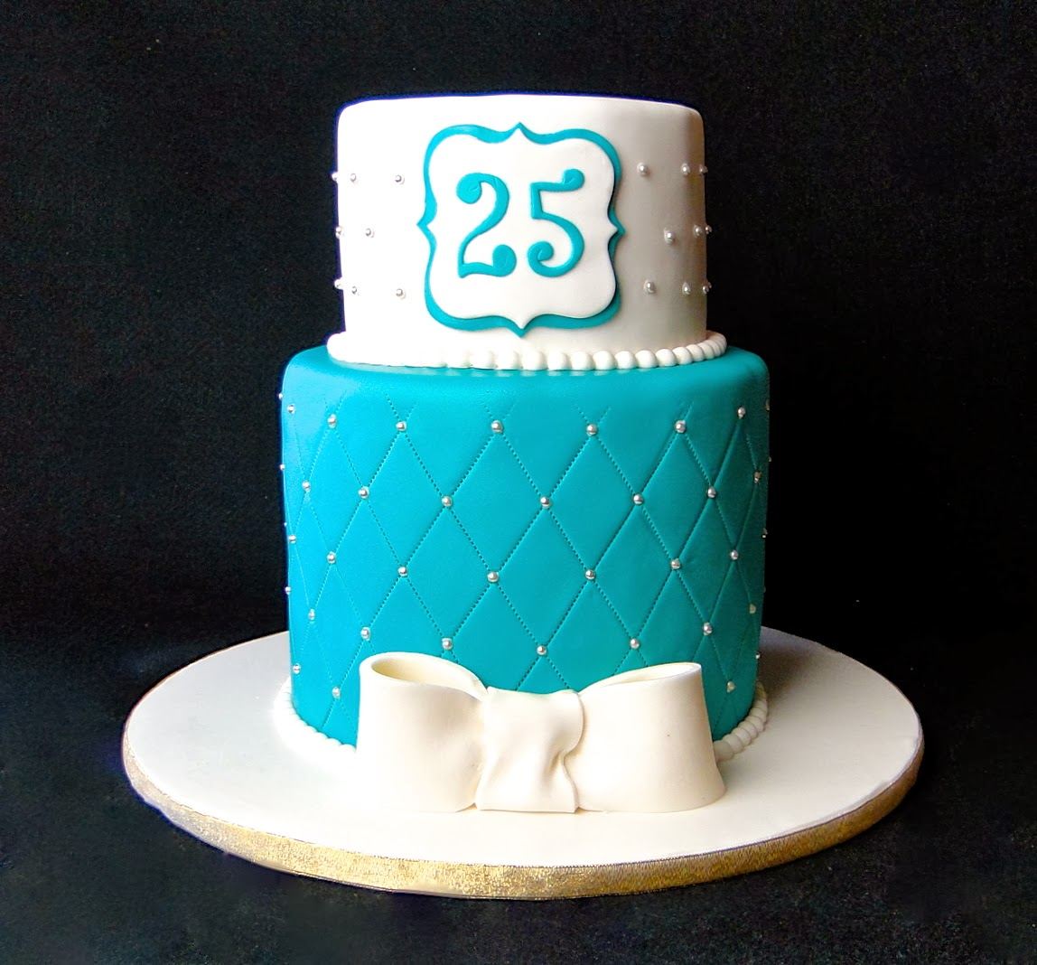 Baking Maniac Elegant 25th Birthday Cake