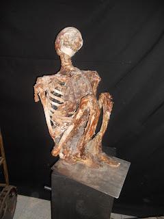 Esqueleto de un ser humano.