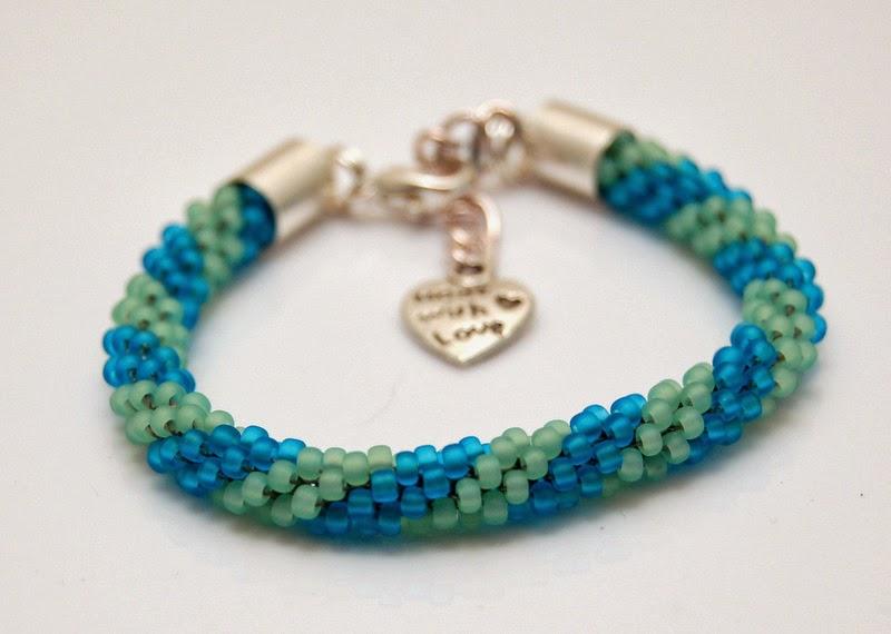 bransoletka koralikowa szydełkowa bead crochet bracelet 1