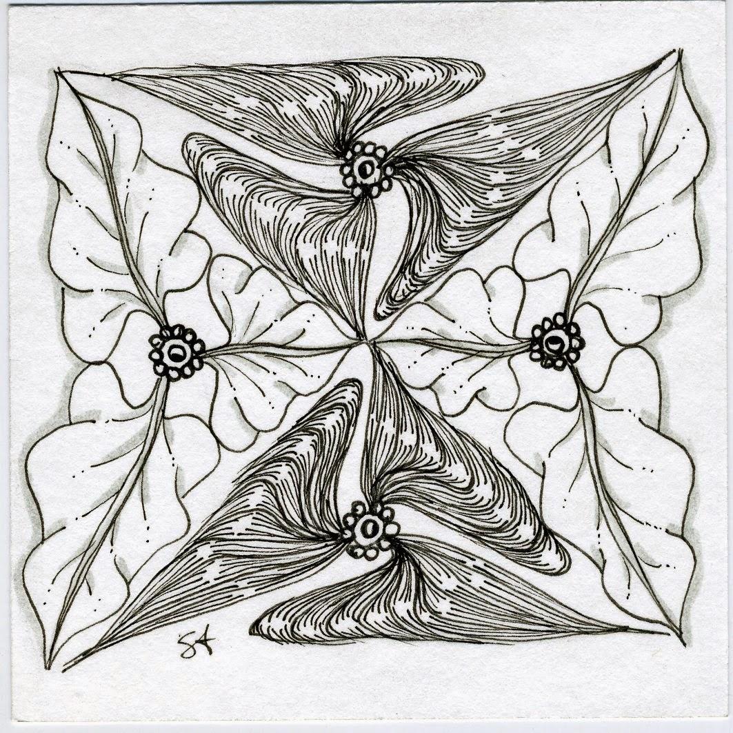 Zentangle flowers on Pinterest
