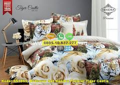 Harga Bedcover Set Kendra Premier Tiger Castle Jual