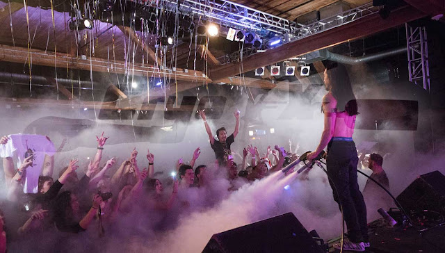 Steve Aoki, one of the Top 100 DJs in the world, performing in Seattle, Washington using CryoFX® for his co2 special effect stage equipment in August 28th, 2015. http://www.cryofx.com