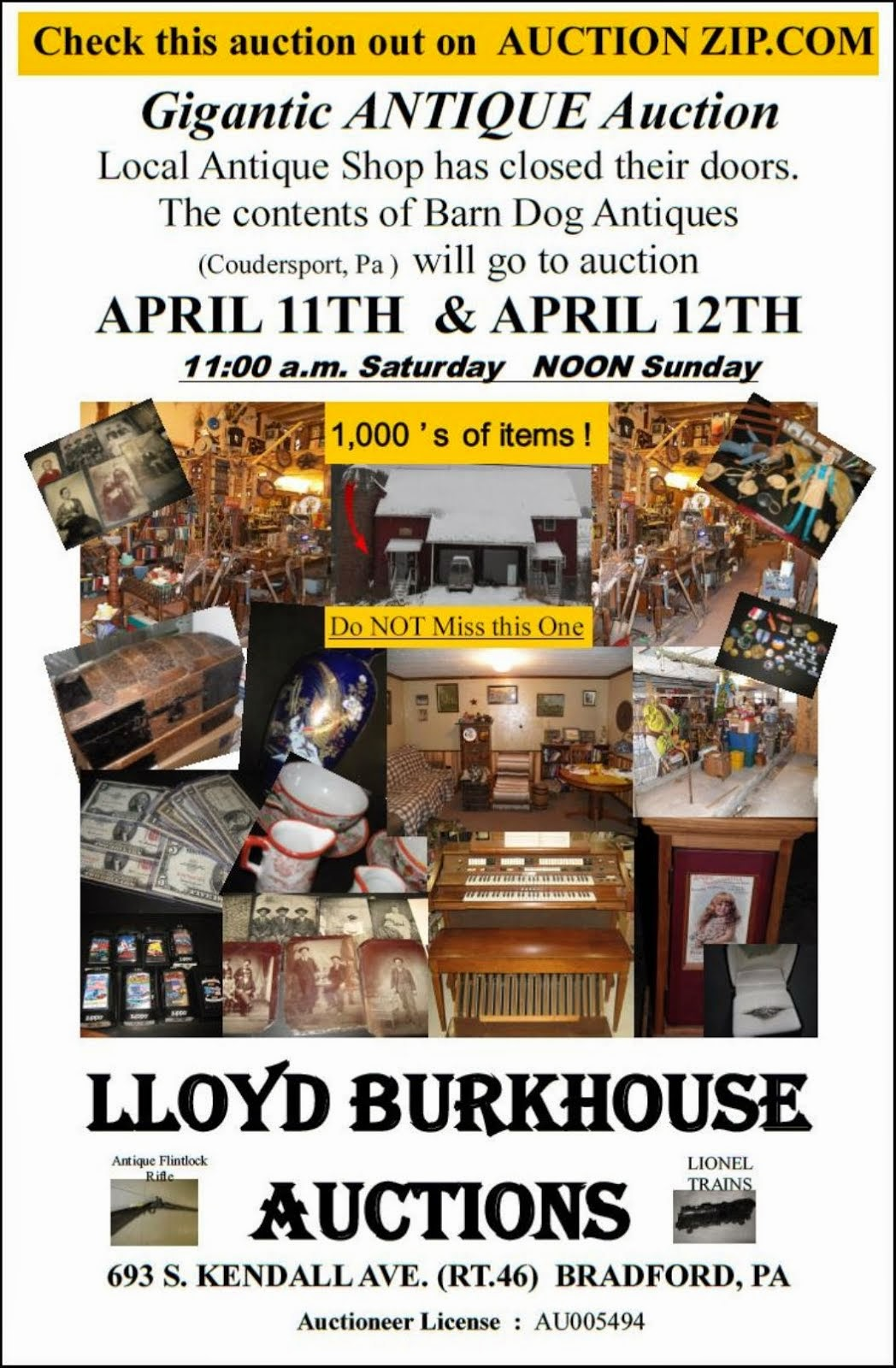 Lloyd Burkhouse Auctions
