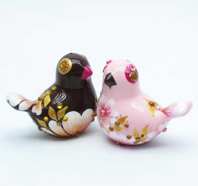 Skull Wedding Cake Toppers Love Birds 0001