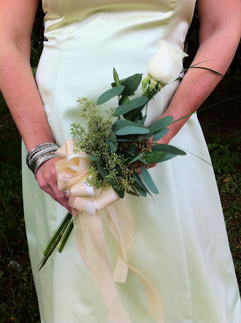 Single White Rose Wedding Bouquet - Stein Your Florist Co.