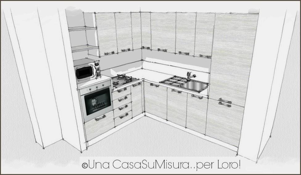 progettazione cucina, cucina ad angolo