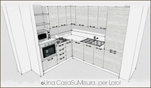 Una casasumisura per loro una casasumisura per voi la cucina di sabrina - Misure cucine componibili ad angolo ...