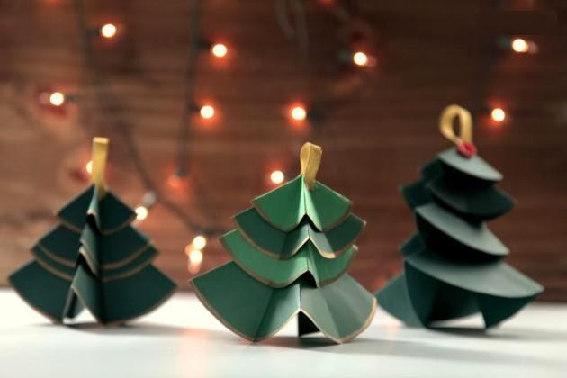 Manos a la obra como hacer arboles de navidad con cartulina - Arbol navidad cartulina ...