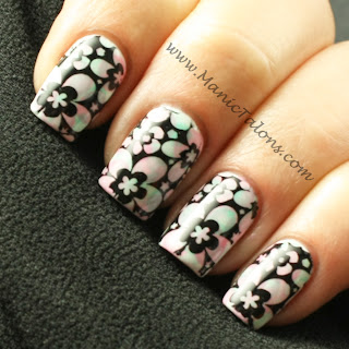 Stamping over a Soak Off Gel Nimbus Nail Art base