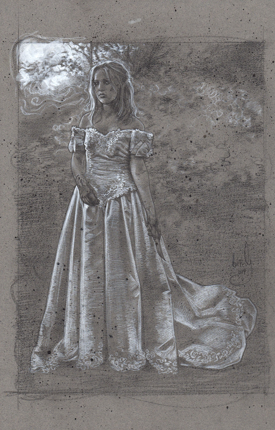 Bride with Knife, Artwork is Copyright © 2014 Jeff Lafferty
