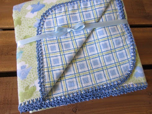 Miss Abigails Hope Chest Crochet Edged Baby Blankets