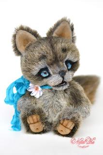 Künstlerteddy, Wolf, artist teddy, teddy wolf, handmade wolf, handmade teddy, ooak, artist toy, NatalKa Creations, teddies with charm, авторский волчонок, волк тедди, авторская игрушка, тедди с шармом