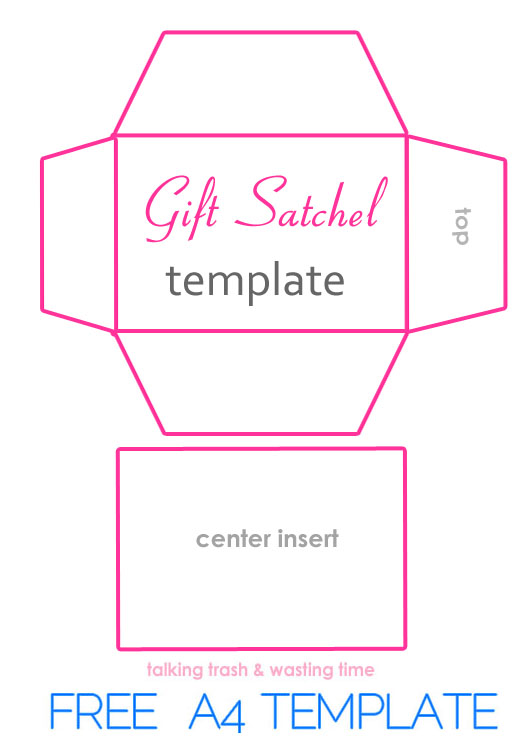 free printable envelope templates - diy gift satchel bags from magazines now thats peachy