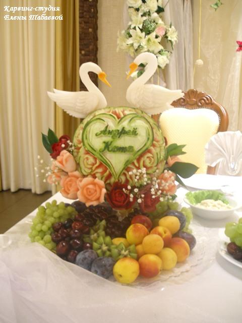 оформление фруктами свадьба