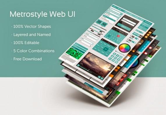 Metrostyle Web UI Kit (PSD)
