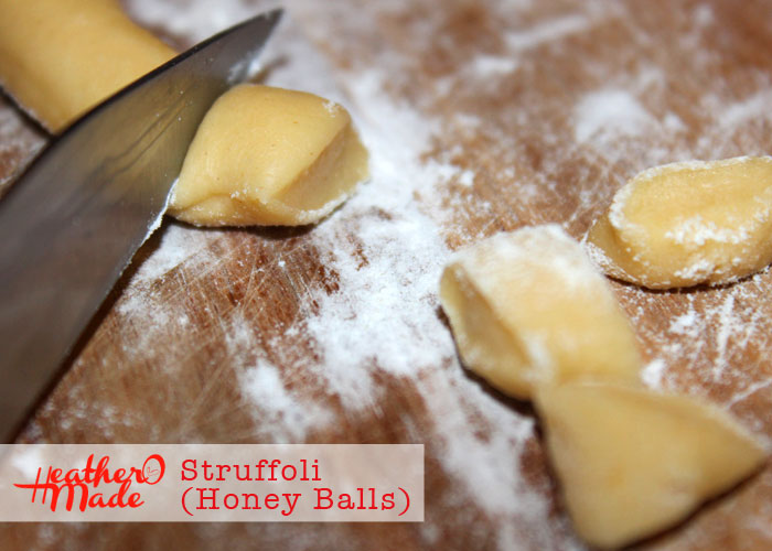 honey balls. struffoli. recipe. heatheromade.