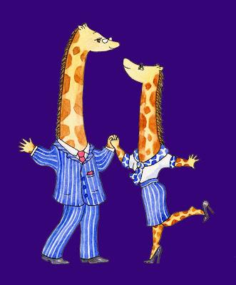 Giraffes Raph & Maureen dancing - Ingrid Sylvestre