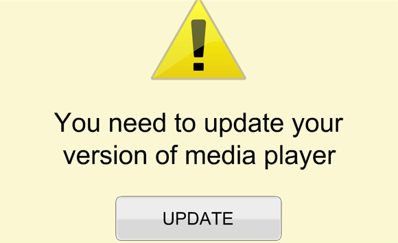 Mensaje You need to update your media player