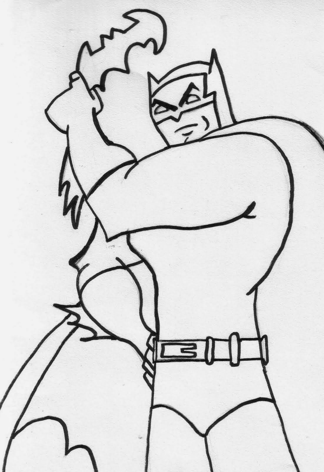 Coloring pages batman free downloadable coloring pages for Batman coloring page