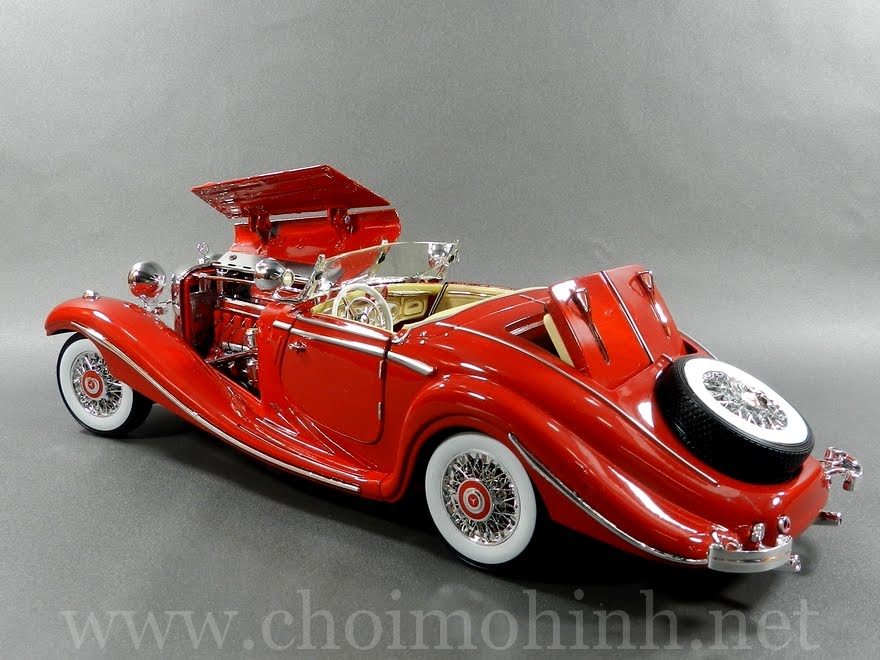 Mercedes-Benz 500 K Specialroadster 1:18 Maisto red back