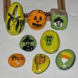 Pierres Peintes, Designs pour Halloween, Partie I