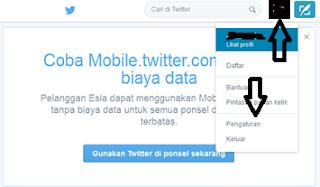 Mengubah profil twitter