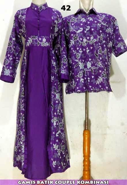 Baju Dress Dan Gamis Batik Kombinasi Terbaru