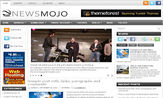 NewsMojo Blogger Template