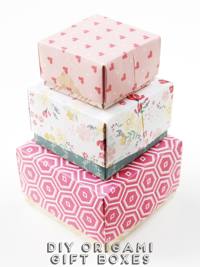 Diy origami gift boxes gathering beauty diy origami gift boxes negle Images