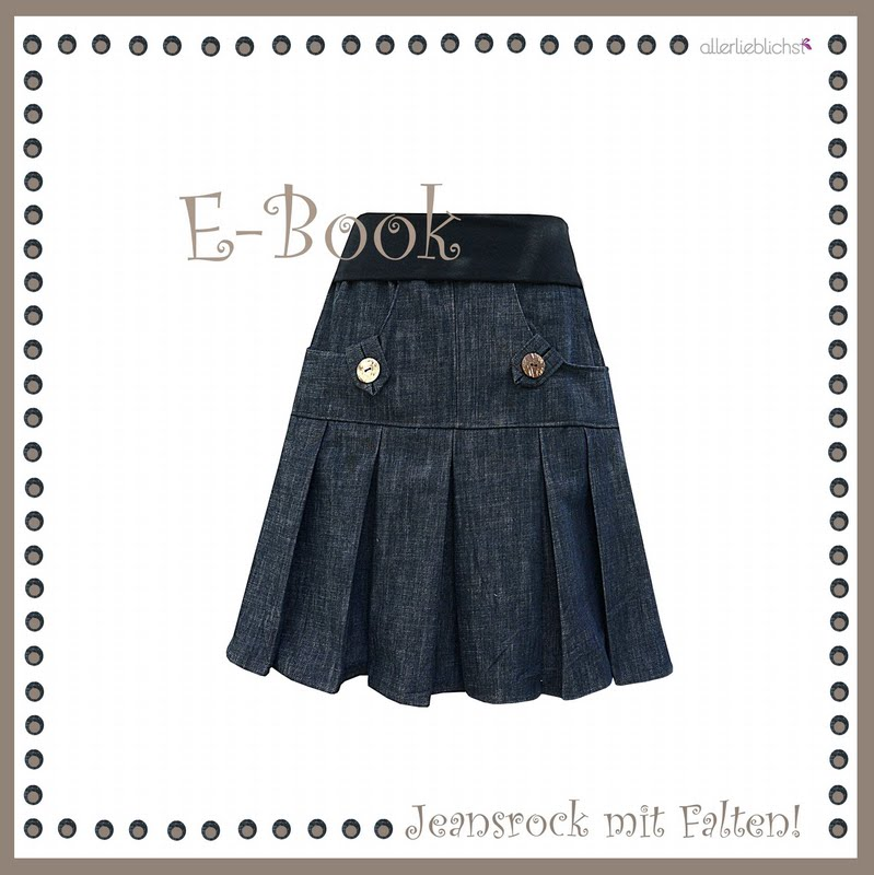 E-Book Jeansrock mit Falten!