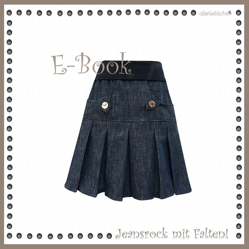 E-Book Jeansrock mit Falten!