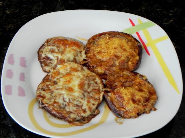 receita shitake recheado queijo assado